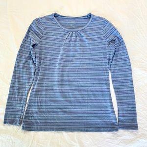 Blue cotton L.L. Bean long sleeve shirt